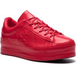 Sneakersy CONVERSE - One Star Platform Ox 562606C Cherry Red/Cherry Red/Black. Czerwone sneakersy damskie Converse, z gumy. Za 399,00 zł.