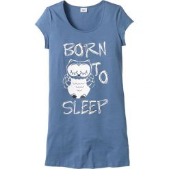 Bielizna nocna: Koszula nocna bonprix niebieski - sowa