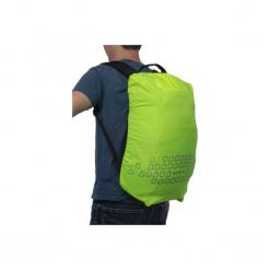 Pokrowiec Odblaskowy Na Plecak 15 - 35 L. Żółte plecaki męskie marki B'TWIN, z materiału, klasyczne. Za 29,99 zł.