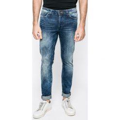Only & Sons - Jeansy Loom. Niebieskie jeansy męskie regular Only & Sons, z bawełny. W wyprzedaży za 79,90 zł.