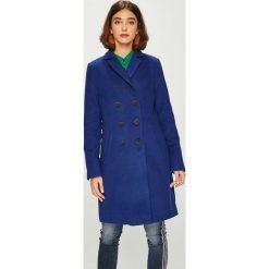 Answear - Płaszcz. Niebieskie płaszcze damskie marki ANSWEAR, l, z elastanu. W wyprzedaży za 219,90 zł.