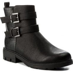 Botki JENNY FAIRY - WS16375-16 Czarny. Czarne buty zimowe damskie Jenny Fairy, ze skóry ekologicznej, na obcasie. W wyprzedaży za 90,99 zł.