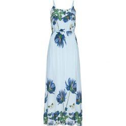 Długie sukienki: Długa sukienka z nadrukiem bonprix jasnoniebieski wzorzysty