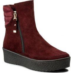 Botki EVA MINGE - Tere 2F 17SM1372214EF  834. Czerwone buty zimowe damskie Eva Minge, z nubiku. W wyprzedaży za 239,00 zł.