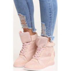 Różowe Sneakersy Be the One. Czerwone sneakersy damskie Born2be, z materiału. Za 119,99 zł.