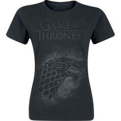 Bluzki asymetryczne: Gra o Tron House Stark Koszulka damska czarny