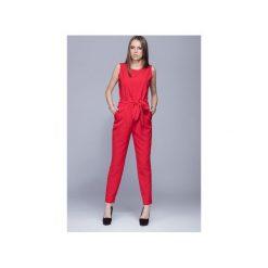 Kombinezony eleganckie: Elegancki kombinezon damski czerwony  H023