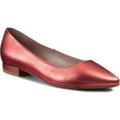 Baleriny GINO ROSSI - Lanza DAG878-Q48-YX00-0029-0 30. Czerwone baleriny damskie Gino Rossi, ze skóry, na płaskiej podeszwie. W wyprzedaży za 249,00 zł.