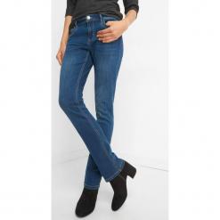 Jeansy z prostą nogawką. Czarne jeansy damskie marki Orsay, xs, z bawełny, z dekoltem na plecach. Za 99,99 zł.