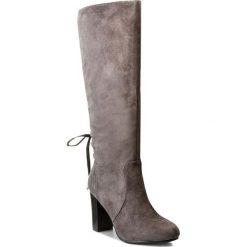 Kozaki JENNY FAIRY - WS17032-5 Szary. Szare buty zimowe damskie marki Jenny Fairy, z materiału, przed kolano, na wysokim obcasie, na obcasie. W wyprzedaży za 104,99 zł.