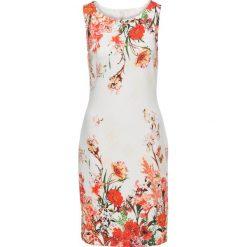 Sukienka w kwiaty bonprix biało-czerwony. Białe sukienki marki bonprix, w kwiaty, ołówkowe. Za 129,99 zł.