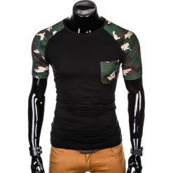 T-SHIRT MĘSKI Z NADRUKIEM MORO S1013 - CZARNY/BRĄZOWY. Czarne t-shirty męskie z nadrukiem marki Ombre Clothing, m, z bawełny, z kapturem. Za 35,00 zł.