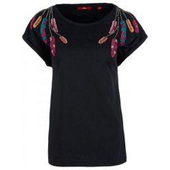 S.Oliver T-Shirt Damski 42 Czarny. Czarne t-shirty damskie S.Oliver, s, z bawełny. Za 100,00 zł.