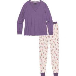 Piżamy damskie: Piżama, bawełna organiczna bonprix ciemny bez z nadrukiem