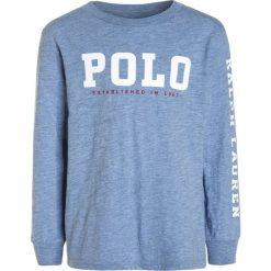 Polo Ralph Lauren GRAPHIC Bluzka z długim rękawem campus blue heather. Niebieskie t-shirty chłopięce Polo Ralph Lauren, z bawełny, z długim rękawem. W wyprzedaży za 135,20 zł.