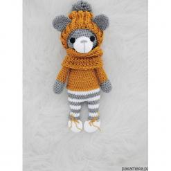 Leniuszek - ruda czapka. Brązowe czapeczki niemowlęce Pakamera, z bawełny. Za 119,00 zł.