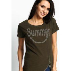 T-shirty damskie: Khaki T-shirt Summertime