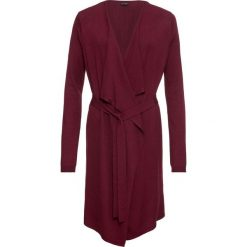 Płaszcz dzianinowy bonprix czerwony klonowy. Czerwone płaszcze damskie bonprix, z dzianiny. Za 89,99 zł.