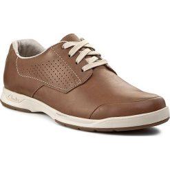 Derby męskie: Półbuty CLARKS - Stafford Plan 261087437 Tan Leather