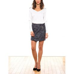 Minispódniczki: Spódnica prosta z nadrukiem żakardowym, krótka