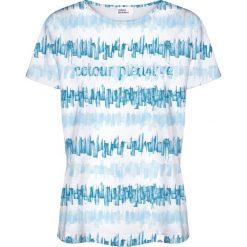 Colour Pleasure Koszulka damska CP-030 281 biało-niebieska r. XL/XXL. T-shirty damskie Colour pleasure, xl. Za 70,35 zł.