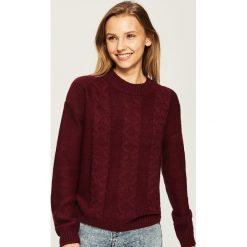 Sweter z warkoczowym splotem - Fioletowy. Fioletowe swetry klasyczne damskie Sinsay, l, ze splotem. Za 49,99 zł.