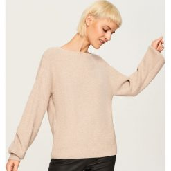 Sweter - Beżowy. Brązowe swetry klasyczne męskie Reserved, l. Za 89,99 zł.
