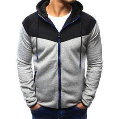 Bluzy męskie: Bluza męska rozpinana z kapturem szara (bx3112)