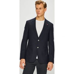 Tommy Hilfiger Tailored - Marynarka. Czarne marynarki męskie slim fit Tommy Hilfiger Tailored, z acetatu. Za 1299,00 zł.