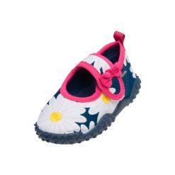 Playshoes  Buty do wody Margarite marine - niebieski - Gr.Moda (6 - 24 miesięcy ). Niebieskie buciki niemowlęce Playshoes, z materiału. Za 59,00 zł.
