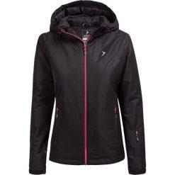 Kurtka narciarska damska KUDN600 - CZARNY - Outhorn. Czarne kurtki damskie zimowe Outhorn, m, z materiału. W wyprzedaży za 139,99 zł.