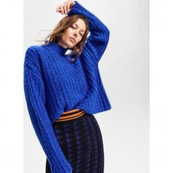 Gruby sweter ze stójką - Niebieski. Niebieskie swetry klasyczne damskie Reserved, l, ze stójką. Za 139,99 zł.
