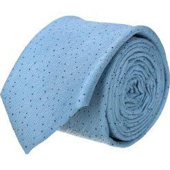 Krawat platinum niebieski classic 223. Niebieskie krawaty męskie Recman, z materiału, eleganckie. Za 49,00 zł.