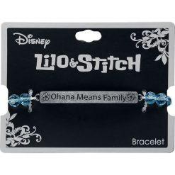 Lilo & Stitch Ohana Means Family Bransoletka niebieski. Żółte bransoletki damskie z cyrkoniami marki W.KRUK, metalowe. Za 42,90 zł.