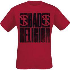 Bad Religion Bold T-Shirt czerwony. Czerwone t-shirty męskie z nadrukiem Bad Religion, s, z okrągłym kołnierzem. Za 74,90 zł.
