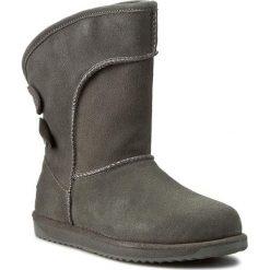 Buty EMU AUSTRALIA - Charlotte W10843 Charcoal 2017. Szare buty zimowe damskie marki EMU Australia, ze skóry, na niskim obcasie. W wyprzedaży za 489,00 zł.
