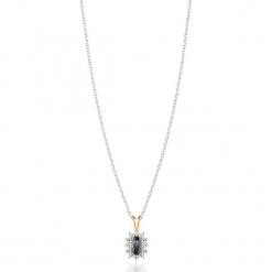 Piękny Wisiorek - , Diament 0,006ct. Szare łańcuszki męskie marki W.KRUK, srebrne. Za 749,00 zł.