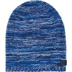 Czapka CZN0000020. Brązowe czapki zimowe męskie Giacomo Conti, z aplikacjami, z wełny. Za 109,00 zł.