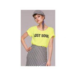 Lost Soul Neon T-shirt Bluzka. Żółte t-shirty damskie Animals Wave, s, z haftami, z bawełny. Za 79,00 zł.