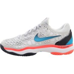 Nike Performance AIR ZOOM CAGE 3 HC Obuwie multicourt pure platinum/blue/black. Szare buty do tenisu damskie Nike Performance, z materiału. W wyprzedaży za 439,20 zł.