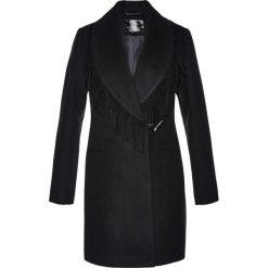 Płaszcz żakietowy z frędzlami bonprix czarny. Czarne płaszcze damskie bonprix. Za 189,99 zł.