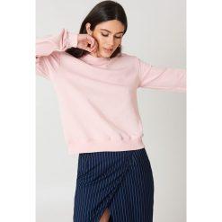 NA-KD Basic Bluza basic - Pink. Różowe bluzy damskie marki NA-KD Basic, prążkowane. Za 72,95 zł.