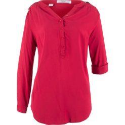 Bluzki, topy, tuniki: Tunika, długi rękaw bonprix ciemnoczerwony