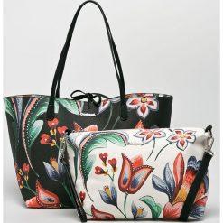 Desigual - Torebka. Szare shopper bag damskie Desigual, z materiału, do ręki, duże. Za 349,90 zł.