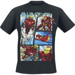 T-shirty męskie z nadrukiem: Iron Man Anime Panels T-Shirt czarny