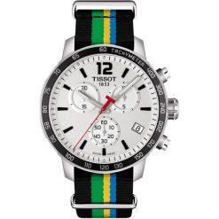 PROMOCJA ZEGAREK TISSOT T - SPORT T095.417.17.037.02. Białe zegarki męskie TISSOT, ze stali. W wyprzedaży za 1619,21 zł.