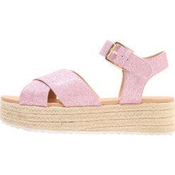 Rzymianki damskie: Head over Heels by Dune KEMMI Sandały na platformie pink glitter
