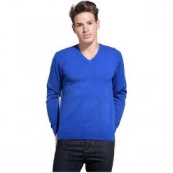 William De Faye Sweter Męski L Niebieski. Czarne swetry klasyczne męskie marki Polo Club C.H..A, m, dekolt w kształcie v. Za 259,00 zł.