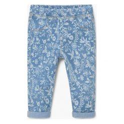 Mango Kids - Jeansy dziecięce Nora 80-98 cm. Niebieskie jeansy dziewczęce Mango Kids, z bawełny. W wyprzedaży za 29,90 zł.