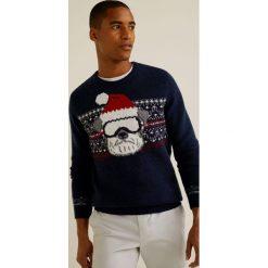 Mango Man - Sweter Dog. Szare swetry klasyczne męskie Mango Man, l, z dzianiny, z okrągłym kołnierzem. Za 139,90 zł.